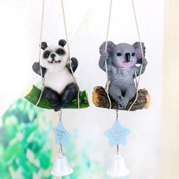 BG_ FT- Cute Swing Panda Sloth Hanging Wind Chimes Home Door
