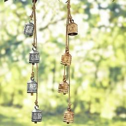 Handcrafted Hanging Bell Cluster Wind Chimes for Outdoors