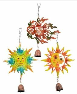 Hanging Shiny Metal Sun Face Garden Collection Decorating Wi