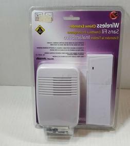 Heathco Sl-7357-02 White Wireless Plug-In Door Chime Extende