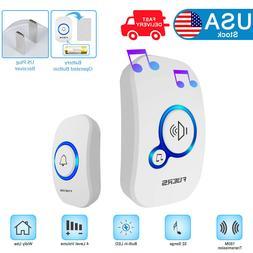 Home Wireless Doorbell Door Chime Battery Operated Plug in R