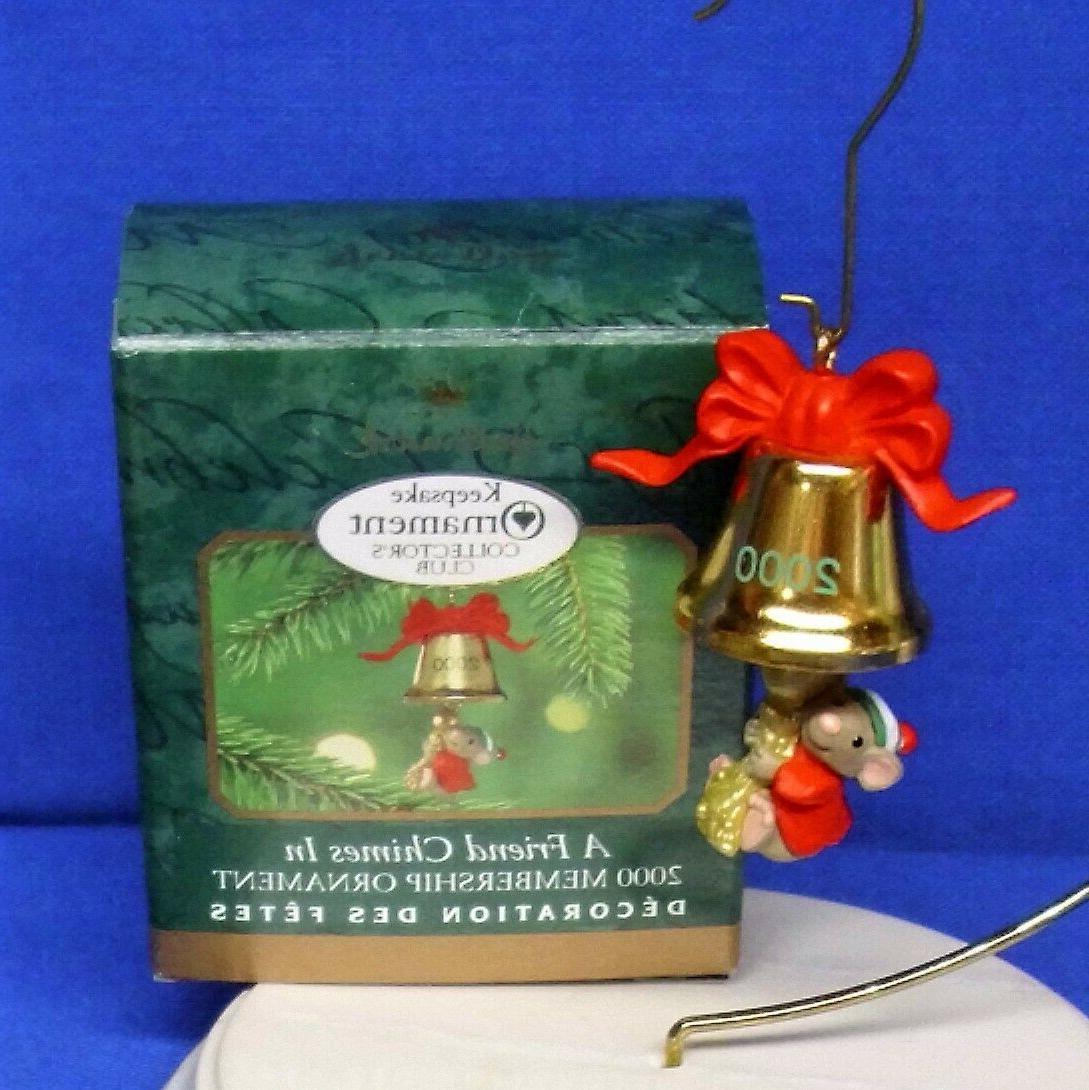 miniature club ornament a friend chimes in