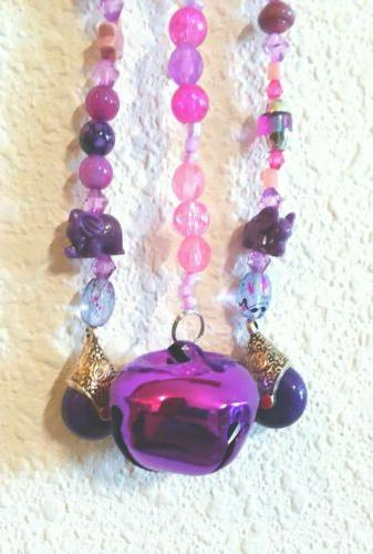Pink Quartz AGATE Jingle-Bell inches, by 9