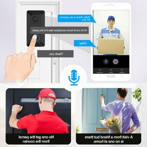 Wireless Smart Doorbell Loudly HD Camera Ring Vision