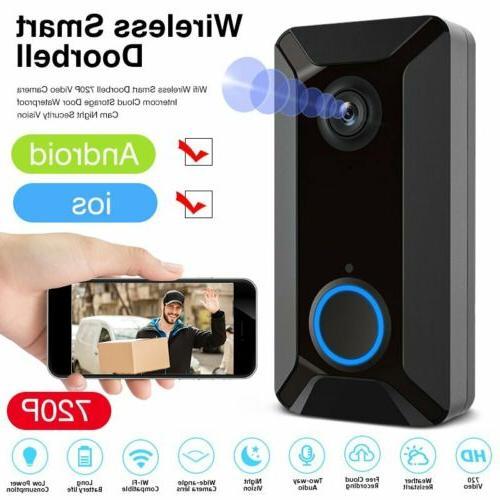 wireless wifi smart doorbell ring ir night