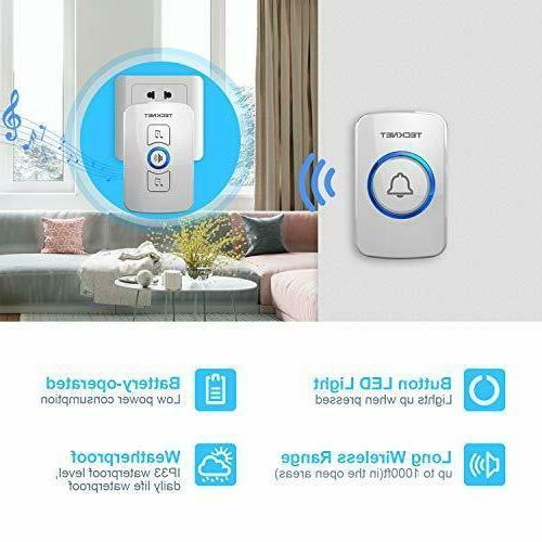 Wireless Kit w LED 1 1 Push Button 1000 Range