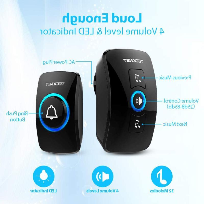 Wireless Wireless Door Chime Kit with