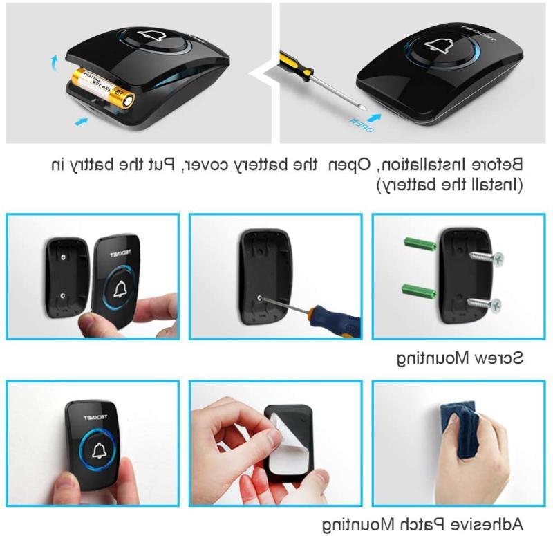 Wireless Waterproof Wireless Bell Chime Kit