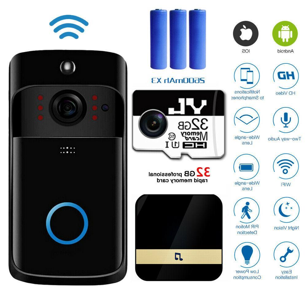 wireless wifi video doorbells two way smart