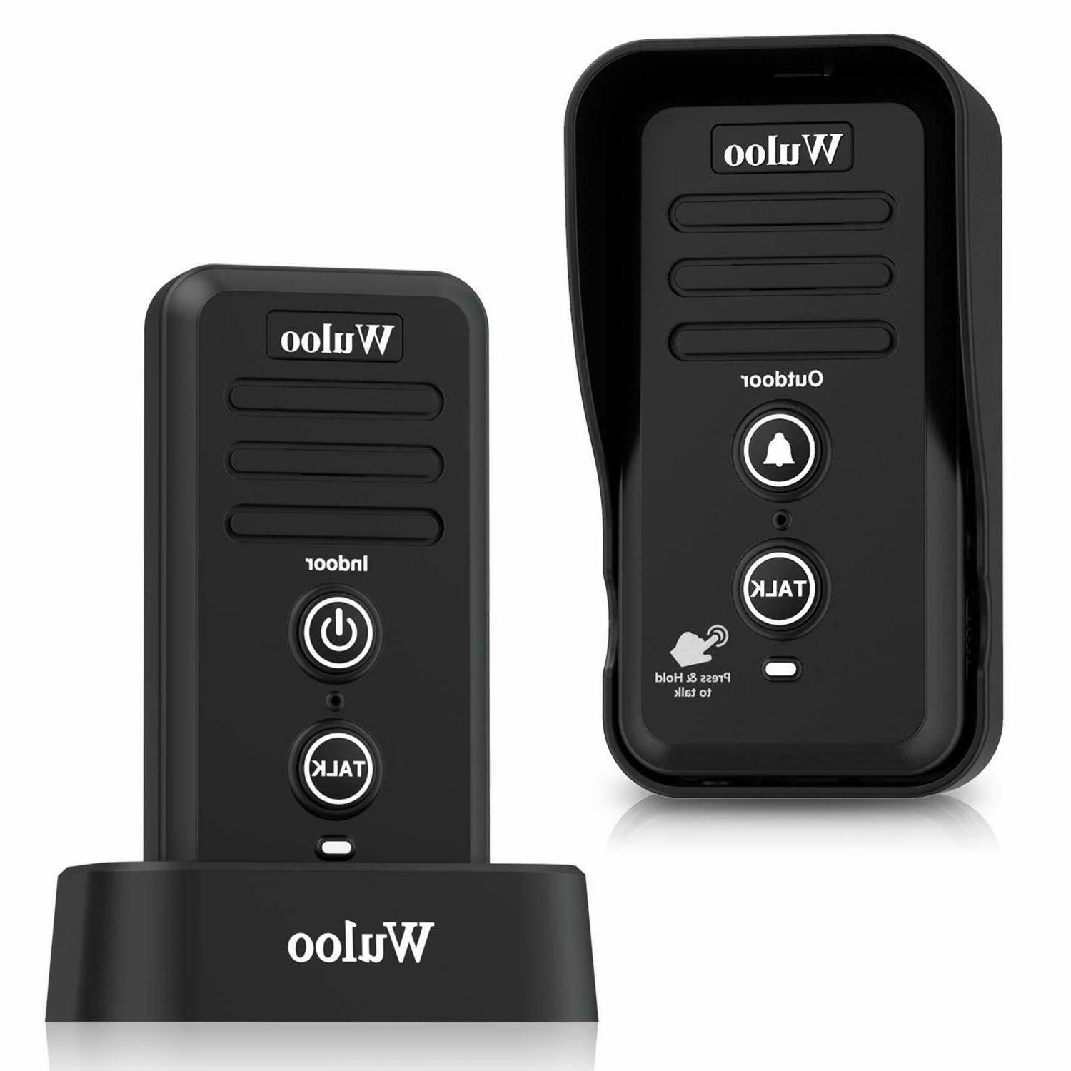 Wuloo Wireless Doorbell 1/2 Home Rechargeable Chimes