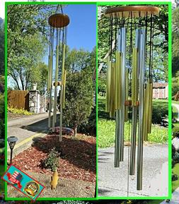 """MELODY WIND CHIMES 30"""" 12 x ALUMINUM TUBES SOOTING WIND BELL"""