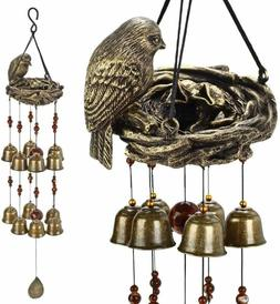 YLYYCC? New Birds and nest Wind Chime 12pieces Bells Wind Ch