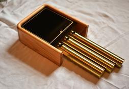 Broan NuTone C306 Brass & Oak 8 Note Door Bell/Chime