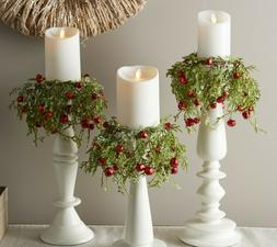 Valerie Parr Hill Set of 3 Cascading Greenery and Jingle Bel