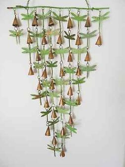 Dragonfly And Shimmering Bells Wind Chime Dragonflies Garden