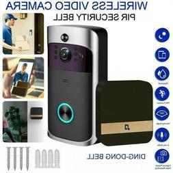 Smart WiFi Video Doorbell Security Camera Two-Way PIR Door B