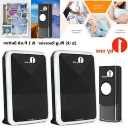 1byone Twin Wireless Doorbell Door Chime Kit Button 2 Receiv