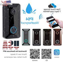 Two-Way WiFi Wireless Doorbell Video Talk Smart PIR Door Bel