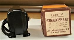 Vintage Rittenhouse Doorbell Chime Transformer #34...NOS