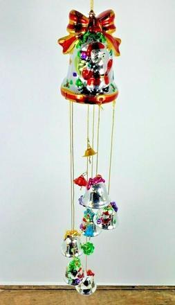 vintage nos porcelain shimmering bell ornament
