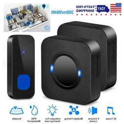 Waterproof Wireless Doorbells Rings 984ft 55 Doorbell Chimes