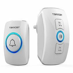 Wireless Door Bell Chime Kit w LED Light 1 Receiver 1 Push B