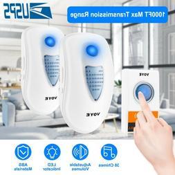 Wireless Door Bell Doorbell Loud Chime LED Flash 1Transmitte