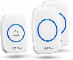 Wireless Door Chimes Doorbells Plug-in Receiver Waterproof L