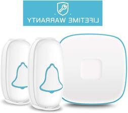 Wireless Doorbell 1000ft Range With 38 Chimes 4 Volume Level
