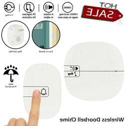 Wireless Doorbell Chime Waterproof 2 Plugin smart Adjustable