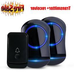 Wireless Doorbell Kit,Waterproof Door Chime Kit w/ 2 Plug-in