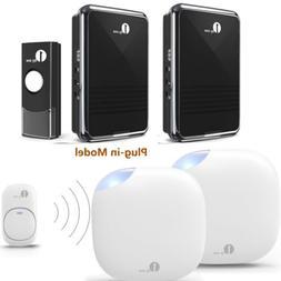 1byone Wireless Doorbell Plug Twin Door Bell Button Outdoor