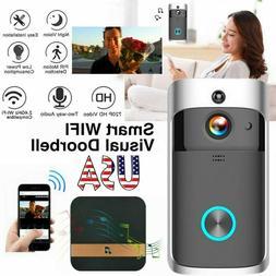 Wireless Smart Doorbell WiFi Video Door Bell Two-Way Talk Ca