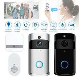 Wireless Smart WiFi DoorBells HD PIR Video Visual Camera Int
