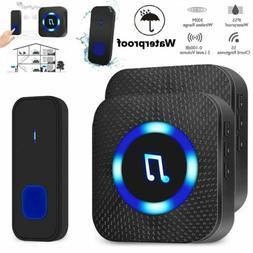 Wireless WiFi Doorbell Smart Door Ring Bell LED Waterproof 3